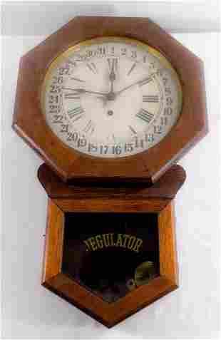 Antique Arthur Pequegnat Regulator wall clock