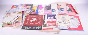 Lot of vintage advertising documents - c.1940