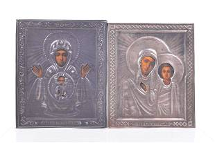 Shevyakov, Alexandr Timofeyevich - Two silver icons,