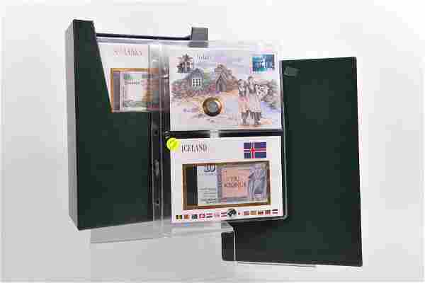 World stamps, coins and banknotes