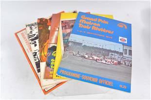 Lot of 6 official motor racing souvenir programs -