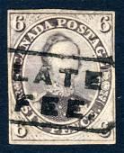 Canada 1857 #10, Prince Albert 6d reddish purple, stamp