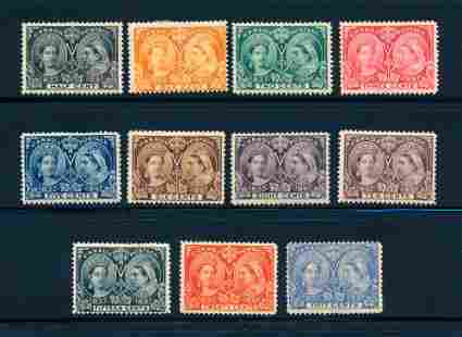 Canada 1897 short set #50/60, stamps F-VF *.