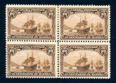 Canada 1908 #103 block of 4, stamps F-VF **.