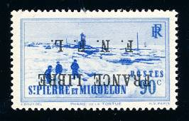 St. Pierre & Miquelon 1942 #228 variety, stamp VF **.