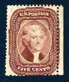 United States 1859 #29, stamp F (*).