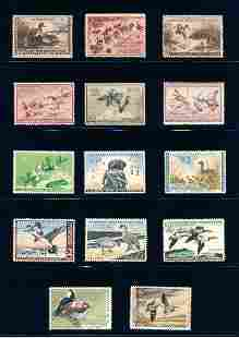 United States 1939-1972 Wild life lot, stamps VF */o.