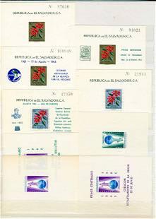 World, lot souvenir sheets VF **.
