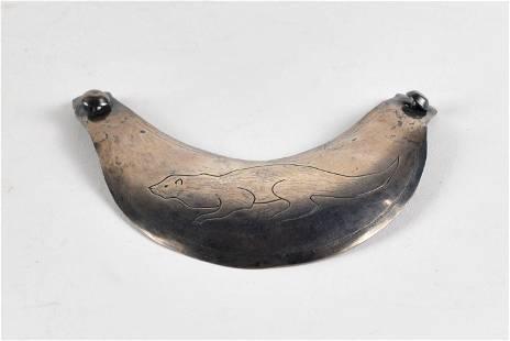 James Langford - Fur trade silver, bib necklace