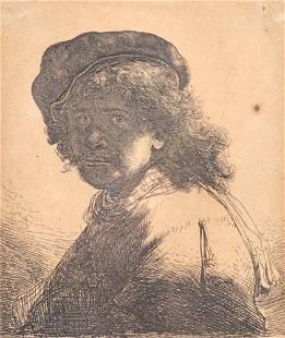 Van Rijn, Rembrandt Harmenszoon - Self portrait in a