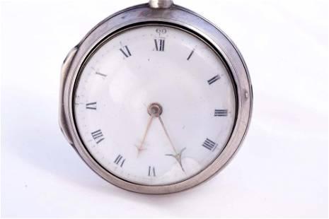 Sarah Clerke - Fusee pocket silver watch - c.1795