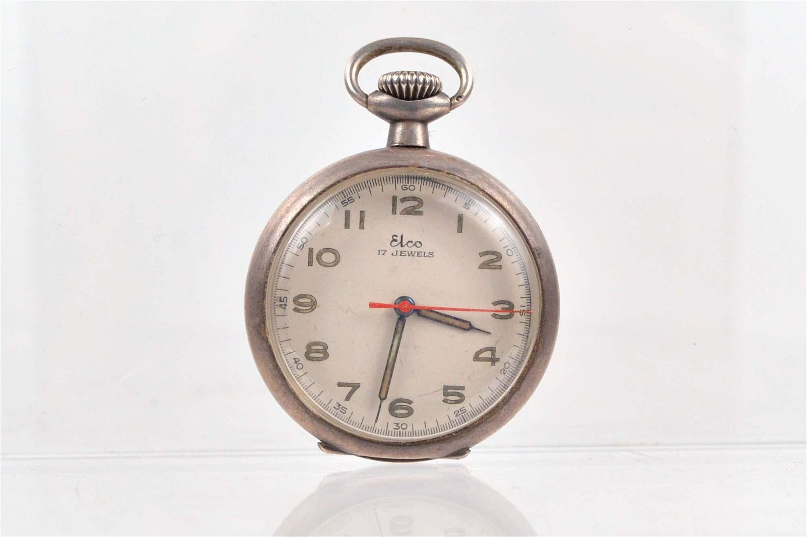 Elco - Antique sterling silver pocket watch