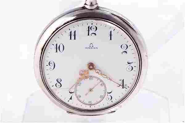 Omega - Coin silver open face pocket watch - c.1907