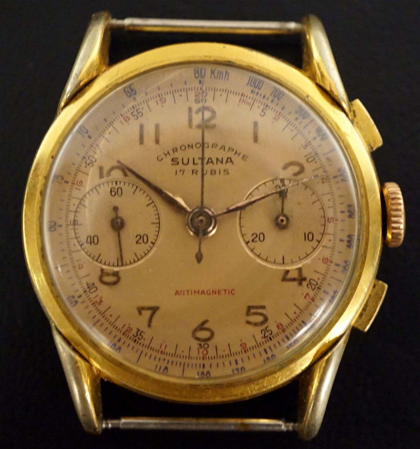 Sultana - Landeron chronograph watch - c.1940