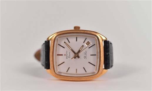 Zenith - 18K gold vintage men's quartz watch - c.1970