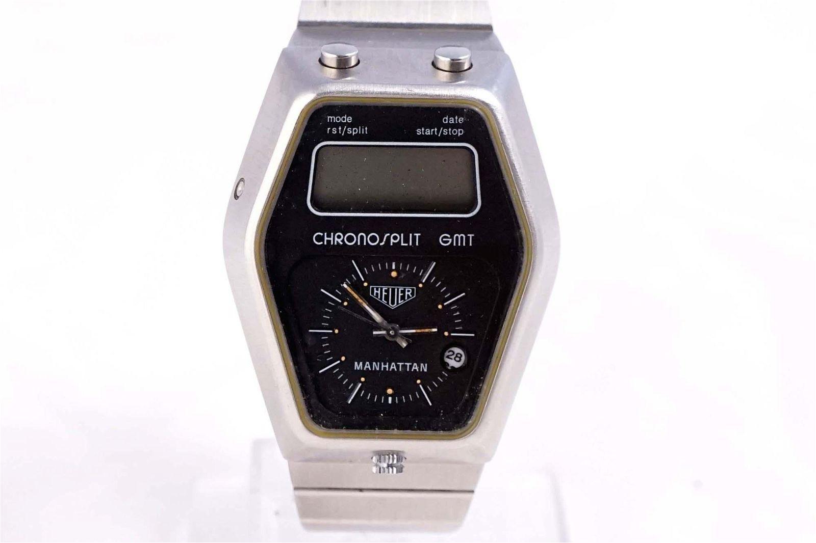 Heuer - Chronosplit GMT Manhattan watch