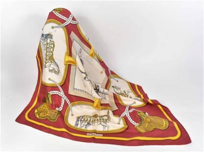 Hermès, Jacques Eudal - Grand Apparat silk scarf