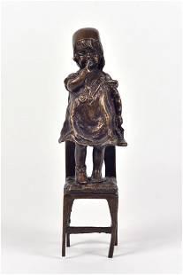 Juan Clara-Ayats (D'après) - Little girl on a chair -