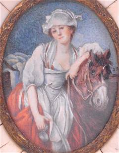 Young woman with horse - c.1920