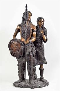 Bronze sculpture, couple