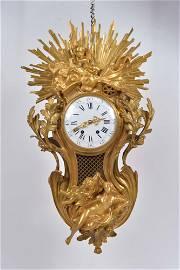 Jean Vincenti - Gilt bronze clock - 1855