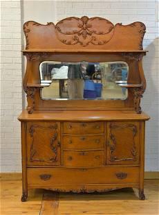 Antique victorian oak sideboard - c.1880