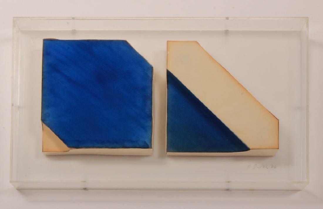 Richard Smith (British, 1931-20) Wide Stripes 45 1966