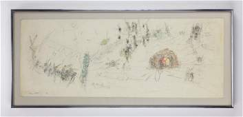 Roberto Matta (Chilean, 1911-2002) Work on paper '53