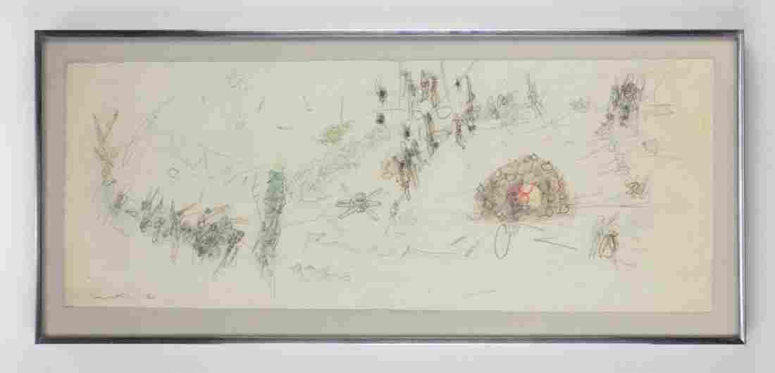 Roberto Matta (Chilean, 1911-2002) Work on paper '53