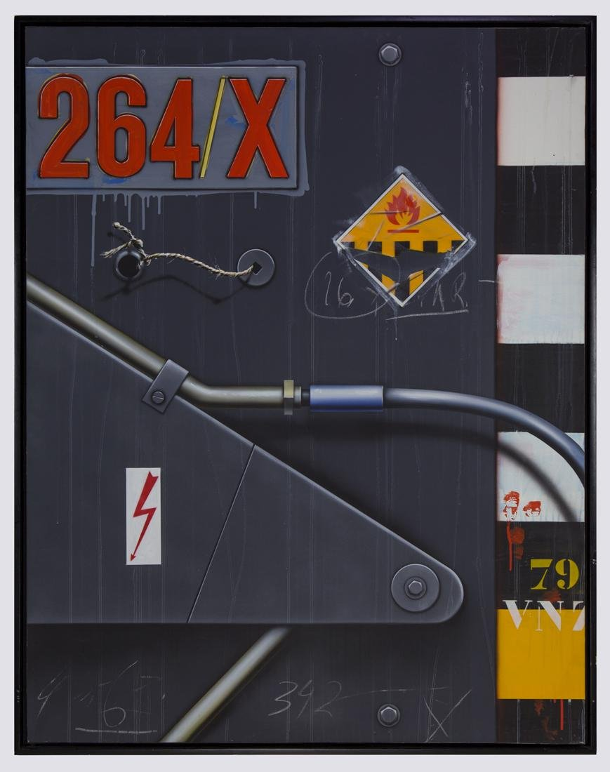 Peter Klasen    S.I.T.A. Camion 264/X Gris  (1987)