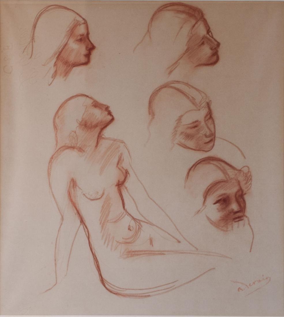 André Derain    Studies of a Figure