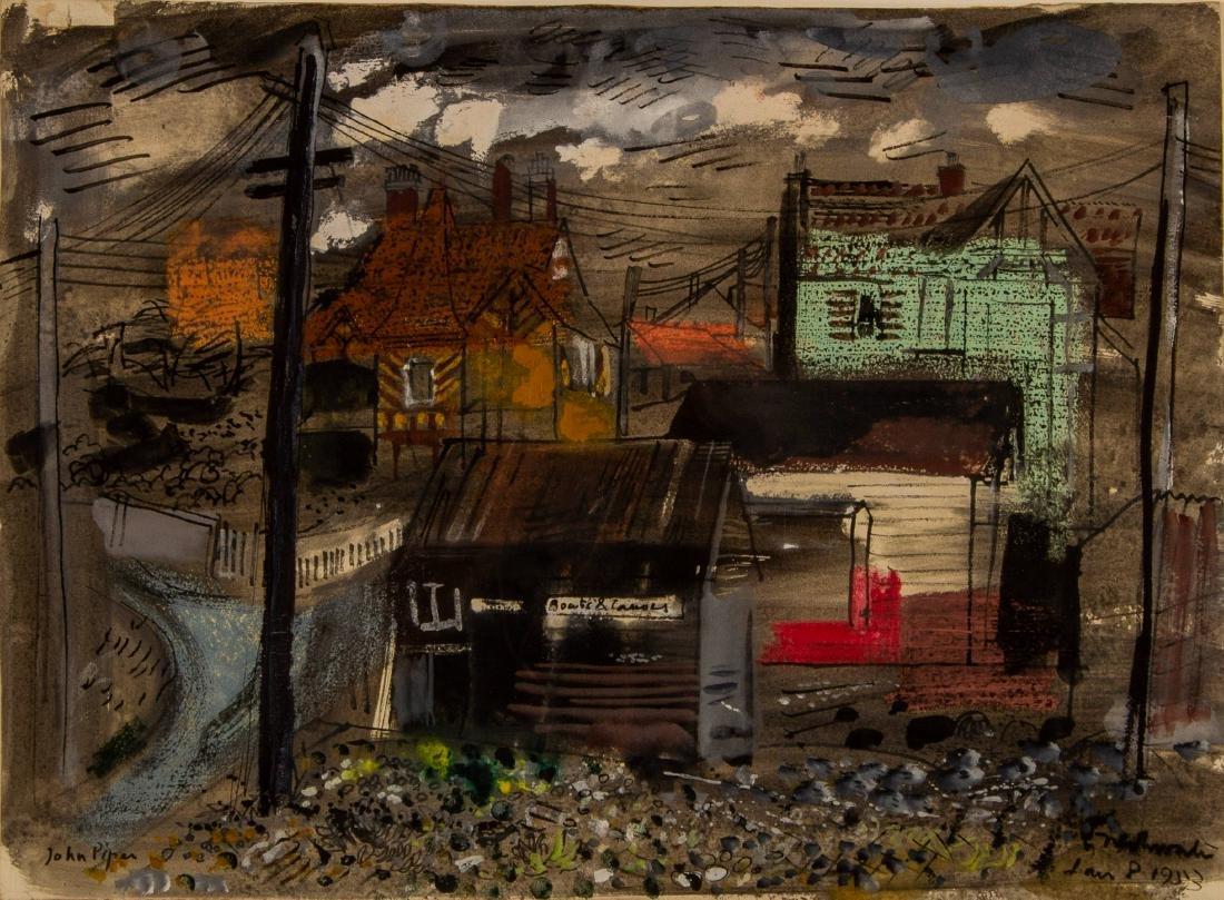 John Piper    Freshwater Isle of Wight  (1953) - 2