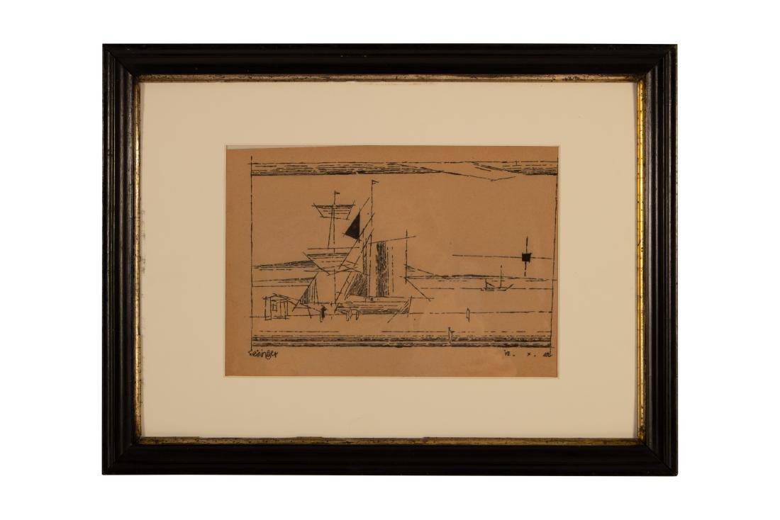 Lyonel Feininger    A Sailing Ship at a Dock  (1942)
