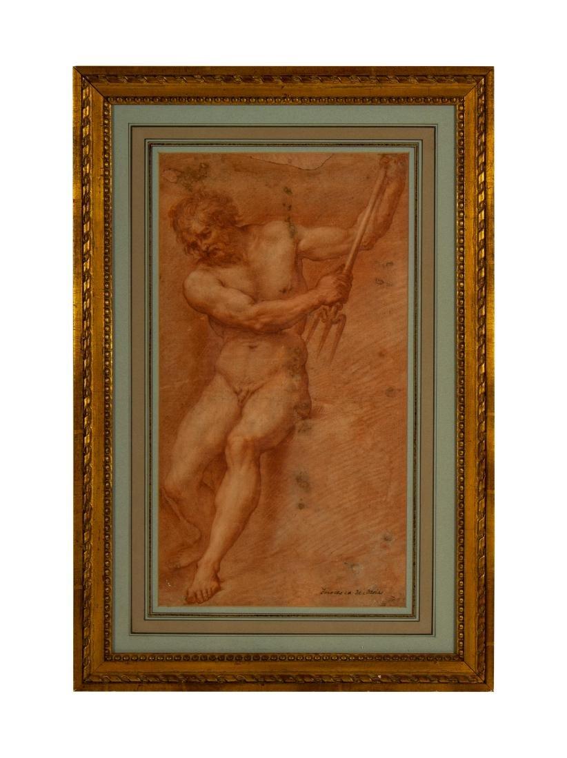 After Francesco de Maria    Figure Study of Neptune