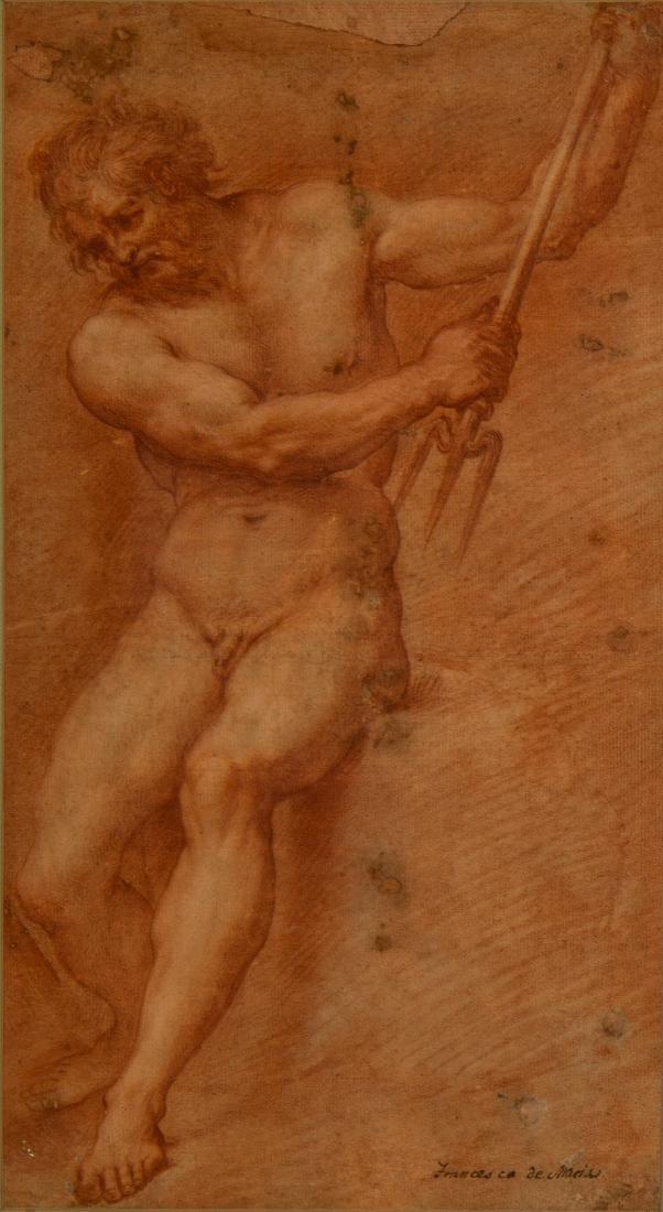 After Francesco de Maria    Figure Study of Neptune - 2