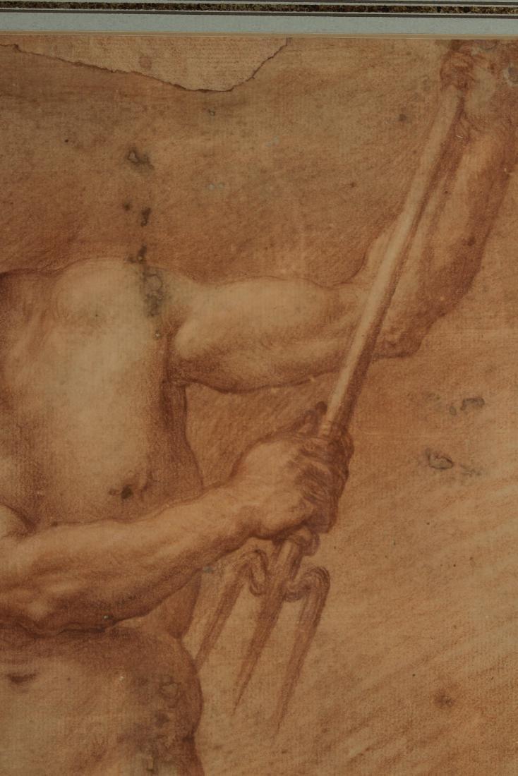 After Francesco de Maria    Figure Study of Neptune - 4