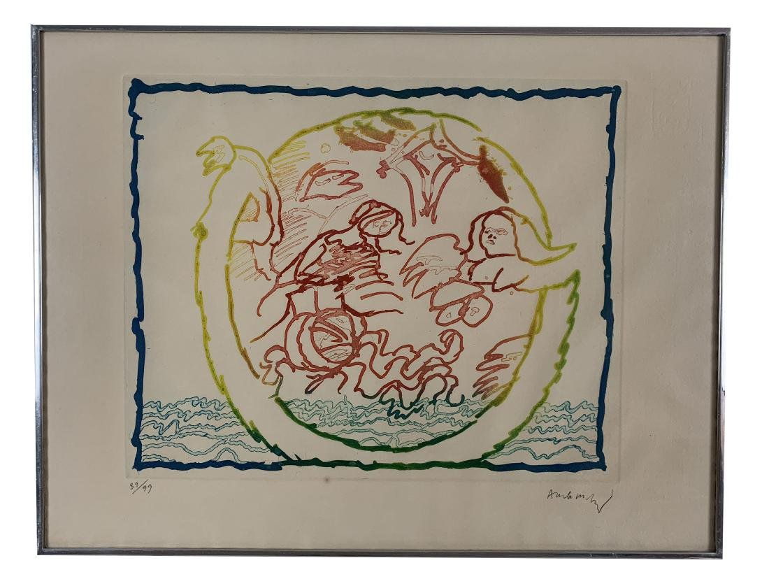 Pierre Alechinsky - Series of 9 lithographs - 3