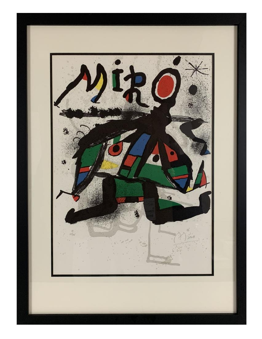 Joan Miro - Lithograph for Miro Exhibition at Maeght - 3