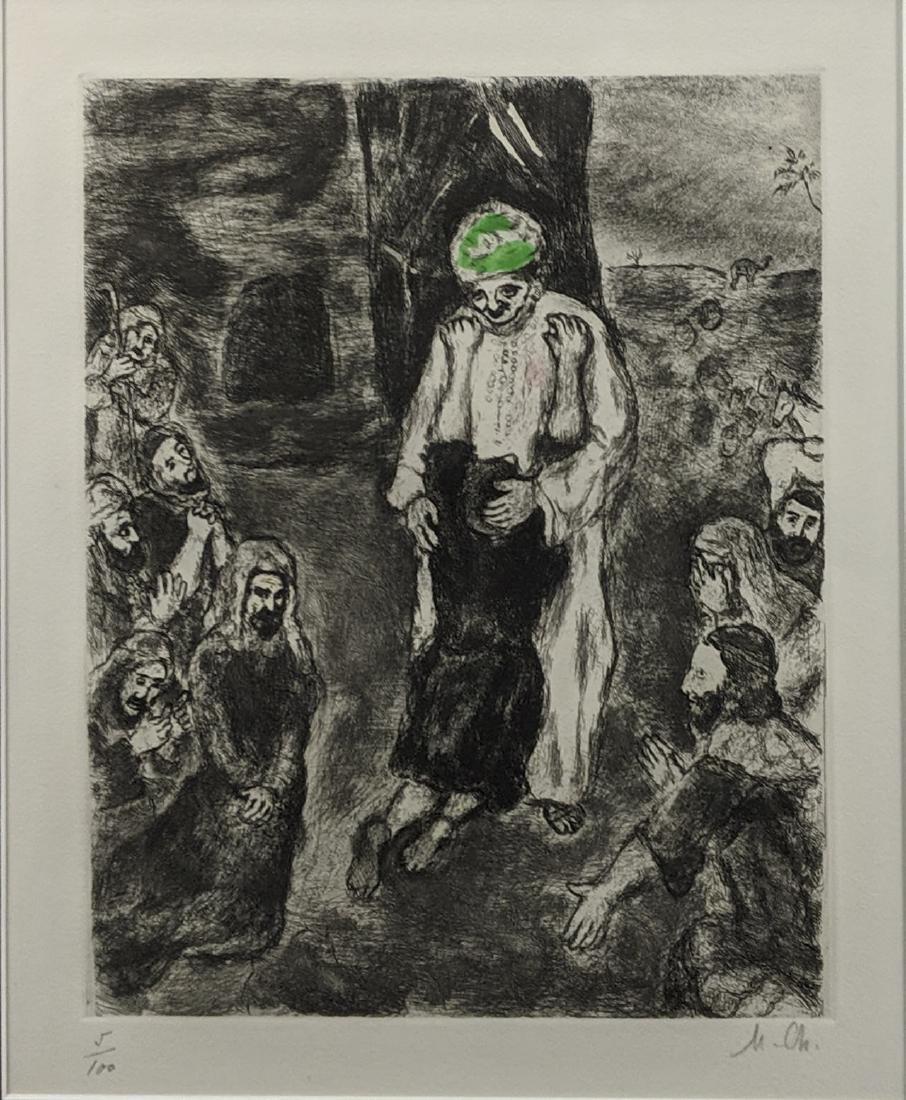 Marc Chagall - Joseph reconnu par ses Freres (etching) - 2