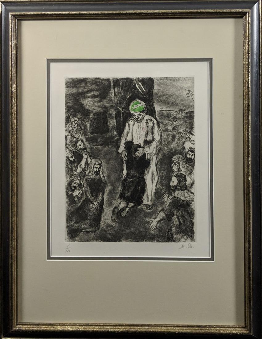 Marc Chagall - Joseph reconnu par ses Freres (etching) - 3