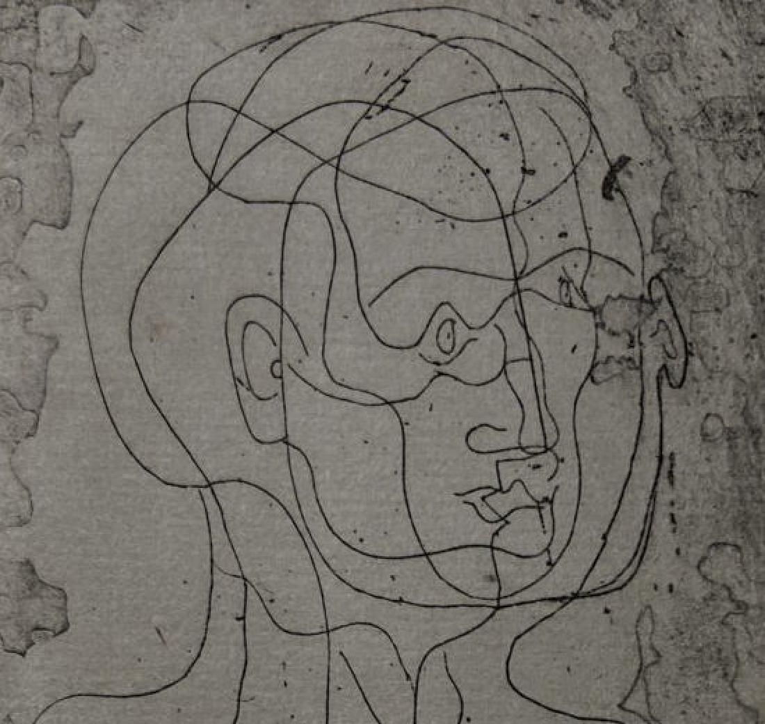 Pablo Picasso - Tete d'homme (etching)