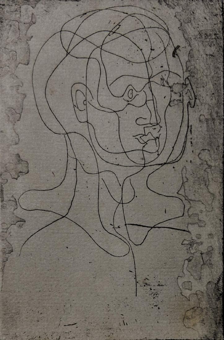 Pablo Picasso - Tete d'homme (etching) - 2