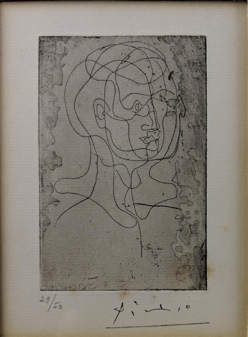 Pablo Picasso - Tete d'homme (etching) - 3
