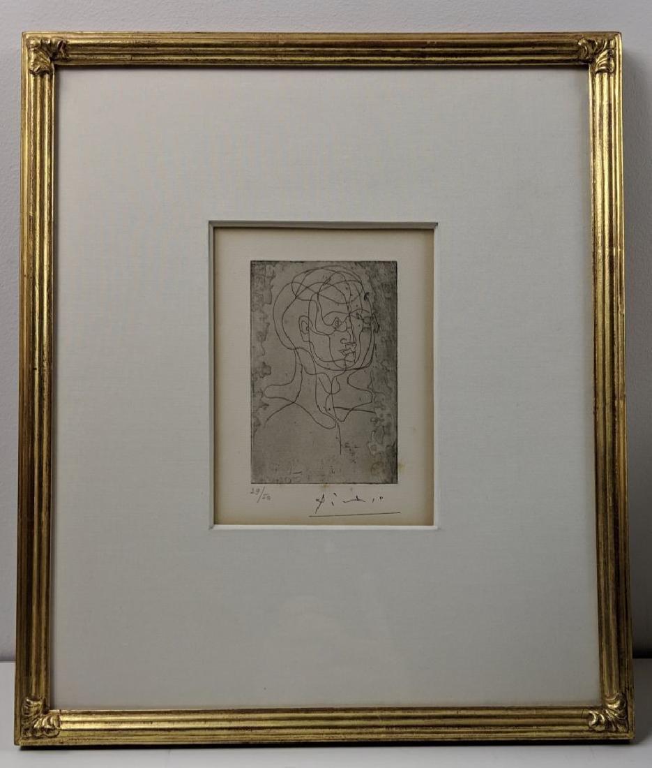 Pablo Picasso - Tete d'homme (etching) - 4