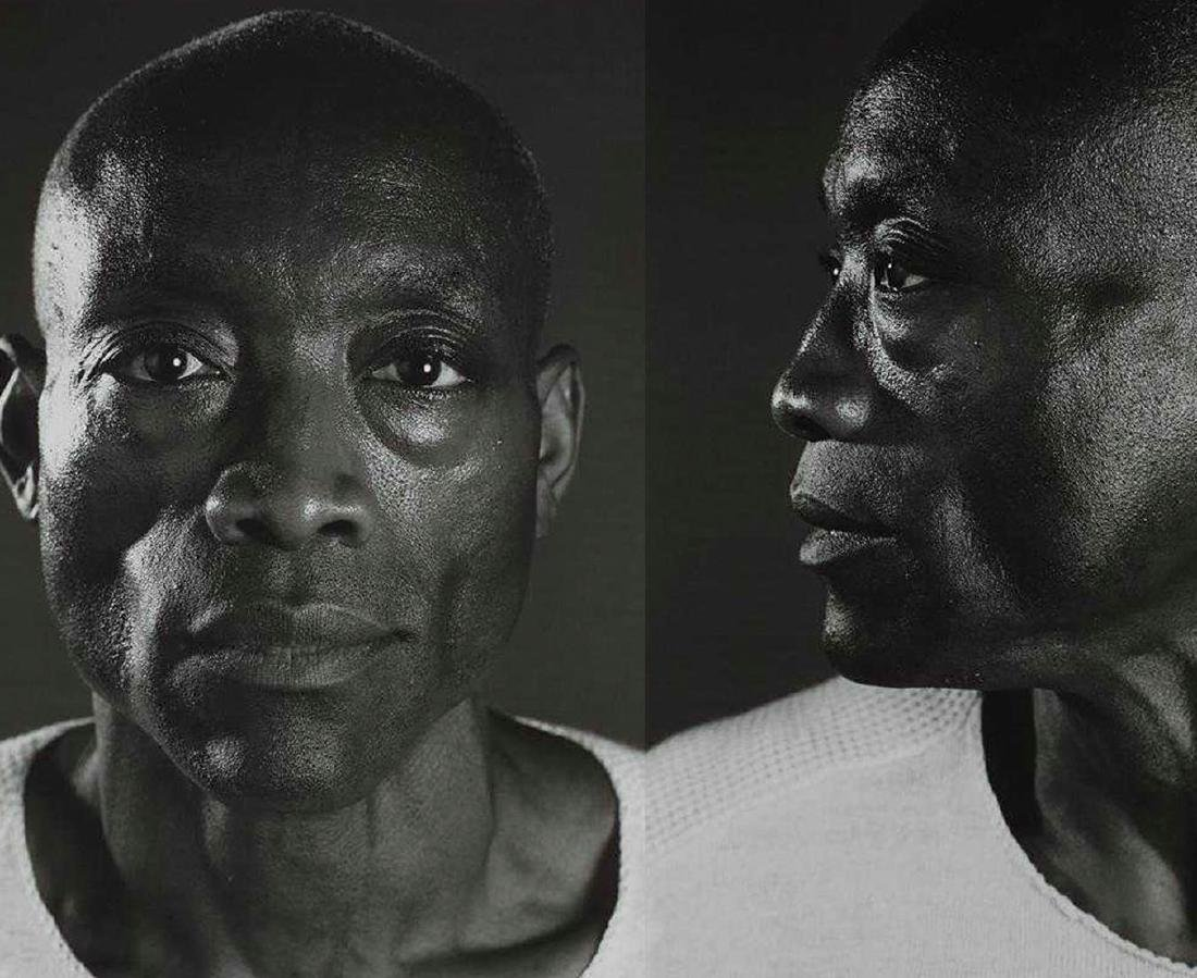 Chuck Close - Untitled (Bill T. Jones) Diptych (2008)