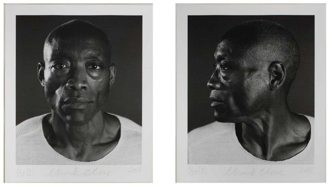 Chuck Close - Untitled (Bill T. Jones) Diptych (2008) - 6