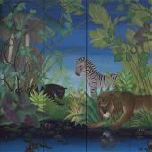 Gustavo Novoa - Jungle Scene on screen