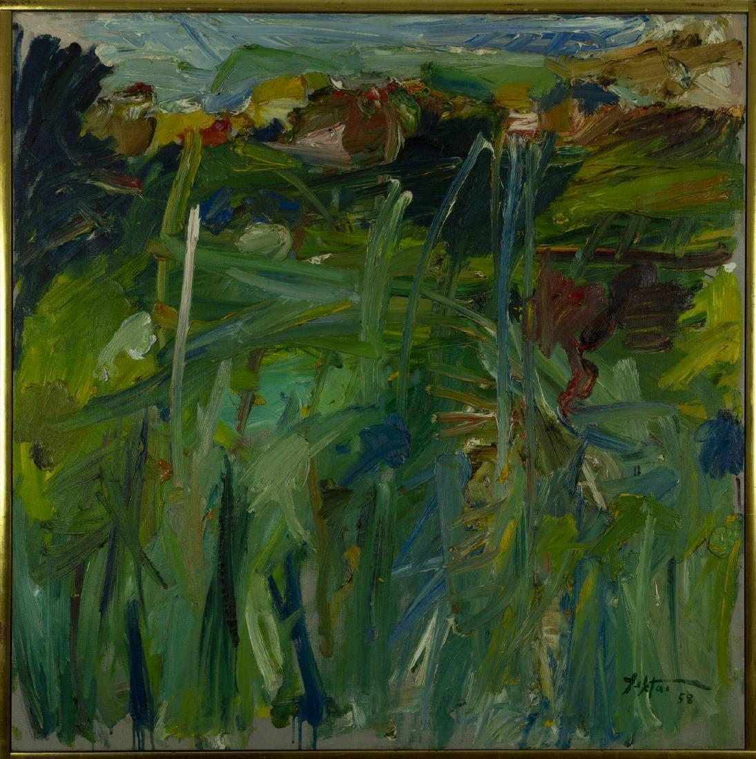 Manoucher Yektai - Positano Landscape (#3) (1958)
