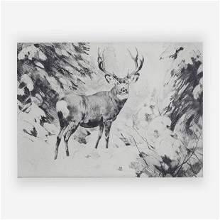 Carl Rungius - Mule Deer