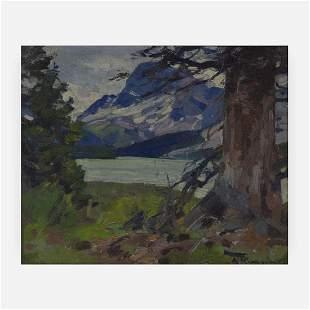 Carl Rungius - Mountain and Lake